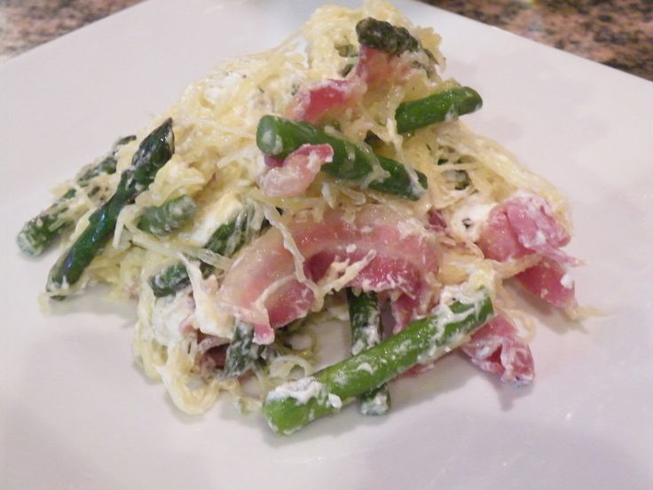 Spaghetti Squash with Asparagus, Pancetta and Goat Cheese Zucchini and ...