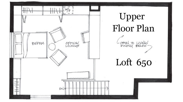 650 Sq Ft Loft House Minimize It Pinterest
