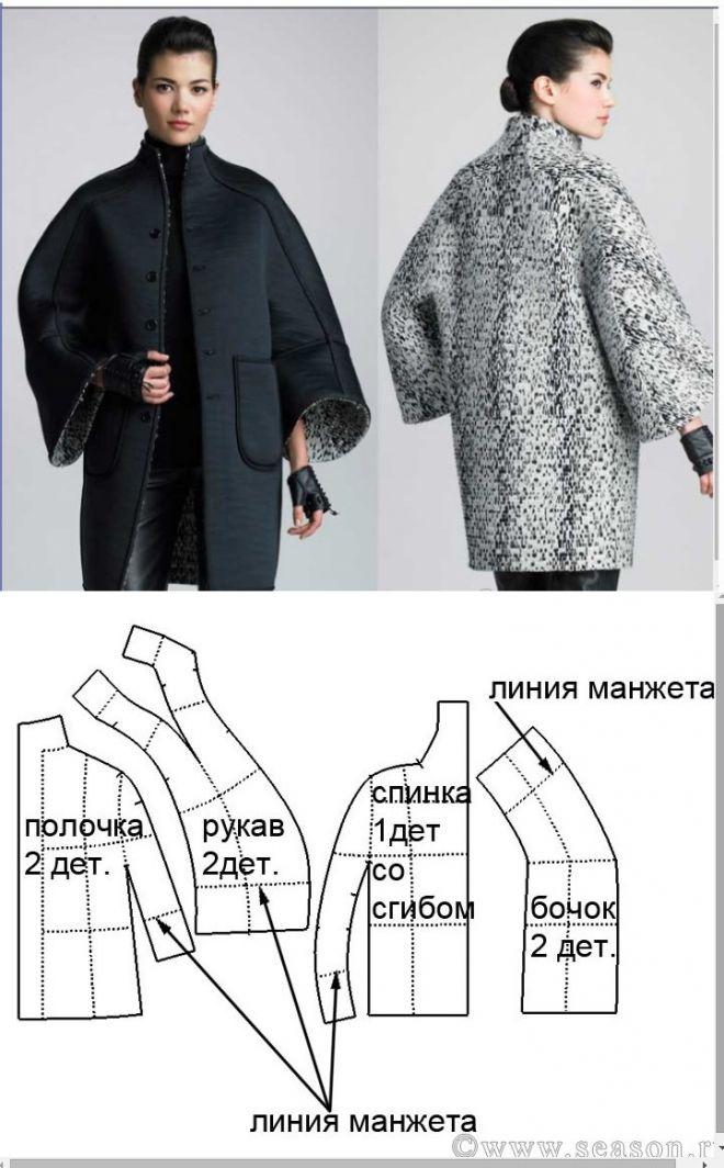 простая выкройка пальто бесплатно