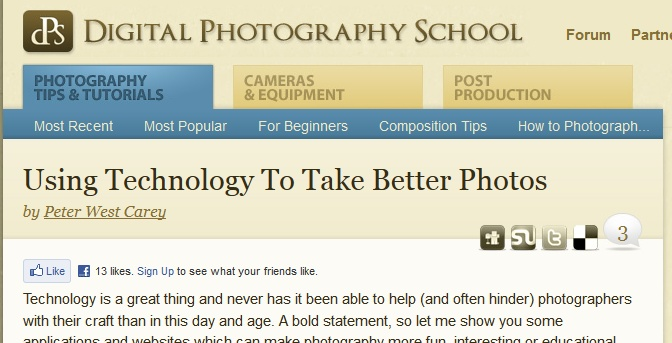 Using Technology To Take Better Photos