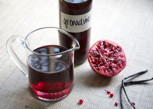 Homemade grenadine. | personalizing drink | Pinterest