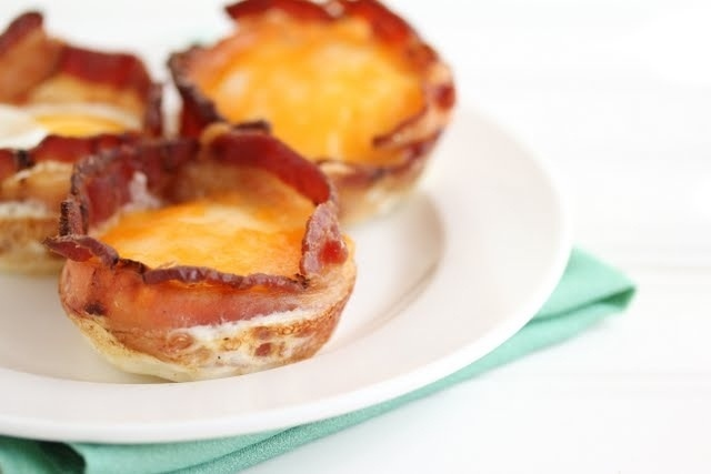 bacon egg and cheese cup | Yumyum | Pinterest