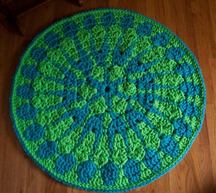 Crochet Patterns Using Mandala Yarn : Shocking Mandala Rug ? The Yarn Box Crochet Patterns Pinterest