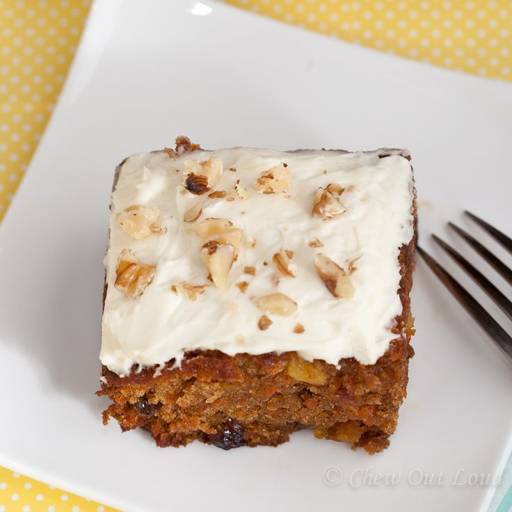 One bowl Carrot Cake with Cream Cheese Frosting - Chew Out Loud