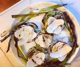 Grilled eggplant & onion stacks with a fresh herb-feta cream cheese ...