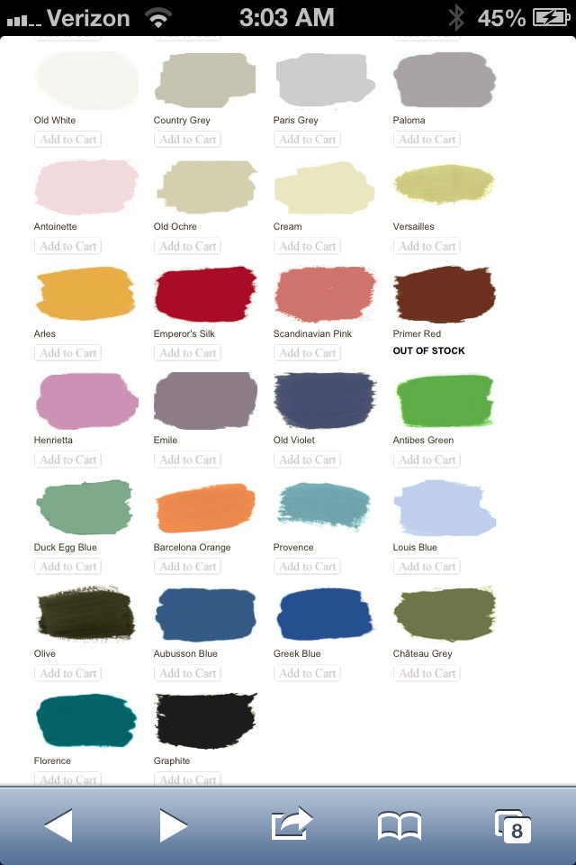sloan chalk paint colors color inspiration