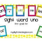 Sight Word Uno for all 5 Dolch lists