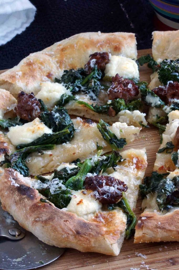 Broccoli Rabe, Italian Sausage & Ricotta Pizza by strawberry plum has ...