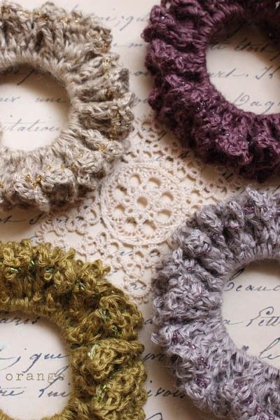 Crochet Hair Scrunchie Video : crochet beads scrunchie 1check Pinterest