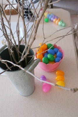 An Easter Blessing tree...have everyone write down things that God has done for them that they are thankful for, place them in the eggs, and hang them on the tree. Helps my family make Easter about Jesus and not just bunnies with eggs
