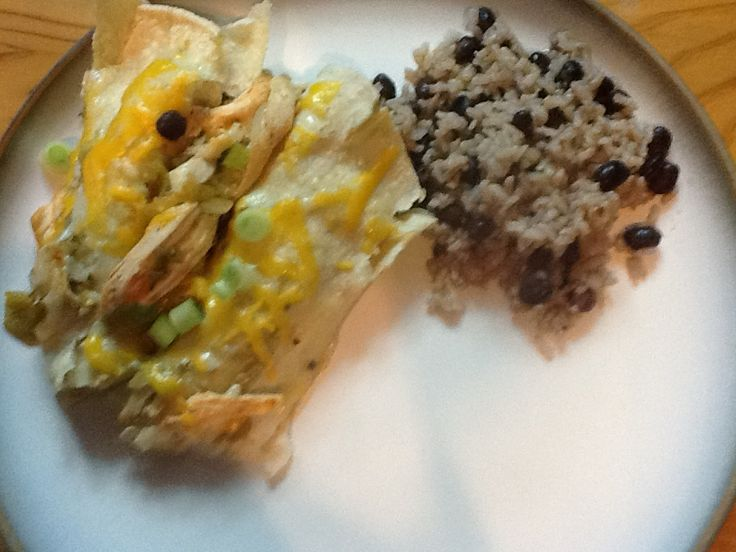 Chicken Enchiladas Verdes | FOOD-yummy | Pinterest