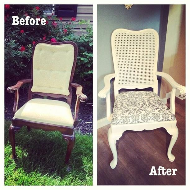 Before and after chairs damask repurpose furniture for Repurposed furniture before and after