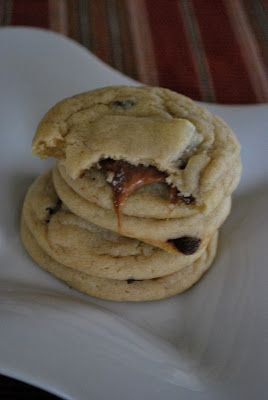 Rolo Filled Chocolate Chip Cookies I can never find this pin when I'm ...