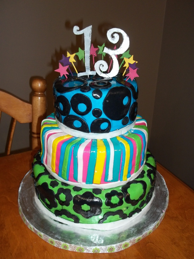 13th birthday cakes for boys