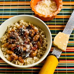 ... ®: Recipe for Mushroom, White Bean, and Tomato Stew with Parmesan