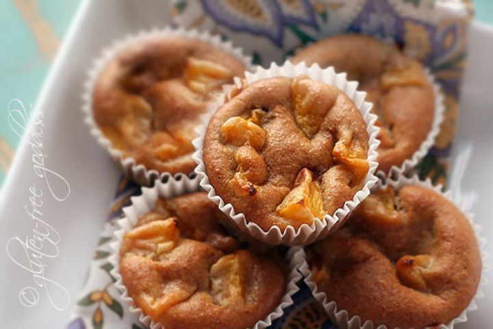 Gluten-Free Peach Muffins with Almond Flour Recipe. redirects to gf ...