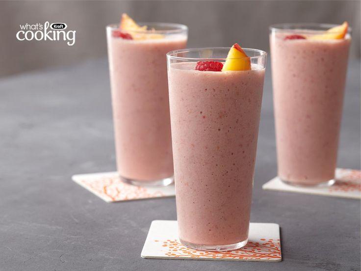 Peach Melba Smoothie #recipe | Recipes | Pinterest