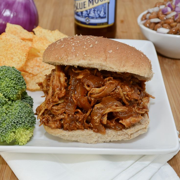 Barbecued Pulled Chicken Sandwiches | Recipe