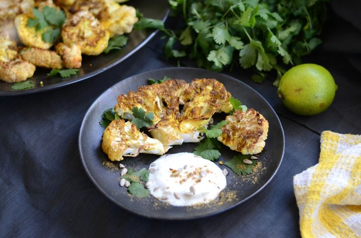 Roasted Curried Cauliflower | What I want to Eat and Drink | Pinterest