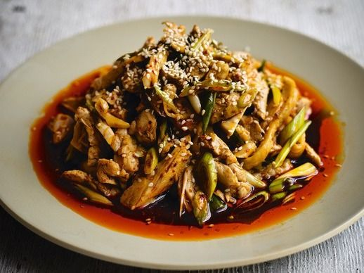 ... Dunlop's Cold Chicken with a Spicy Sichuanese Sauce (Liang Ban Ji
