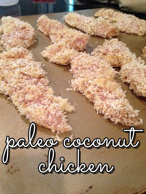 Paleo coconut chicken.  Sub coconut cream for heavy cream.