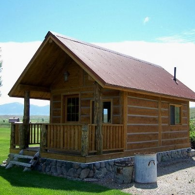 12x18 square log cabin guesthouse tiny homes pinterest for Square log cabin