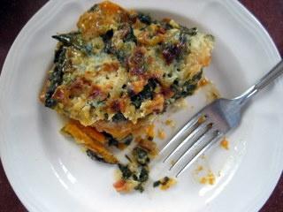 Swiss chard and sweet potato gratin. | dinner time | Pinterest