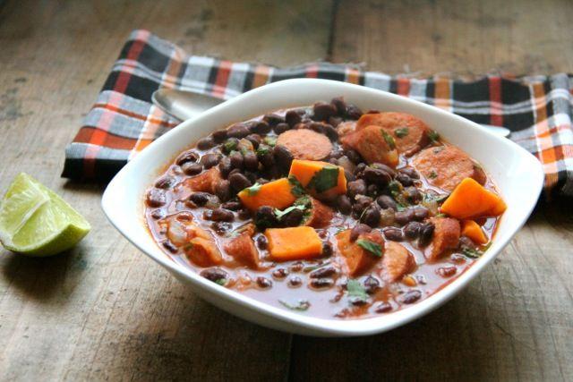 Smoky Black Bean & Sweet Potato Soup   Recipe