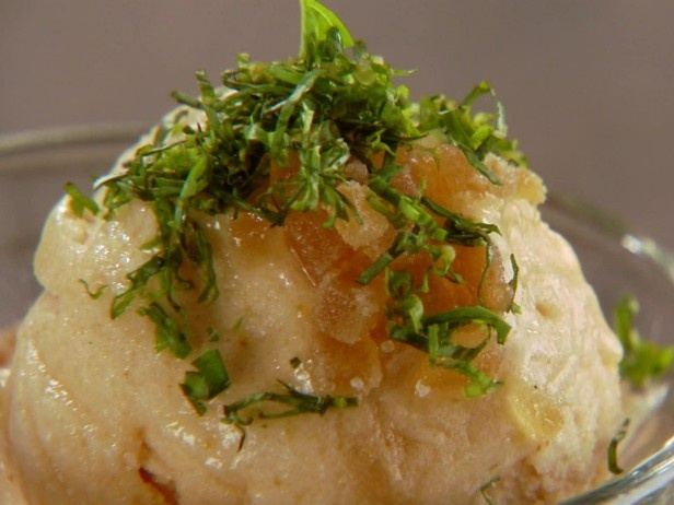 Pear Sorbet : with candied ginger and basil (great served with lemon ...