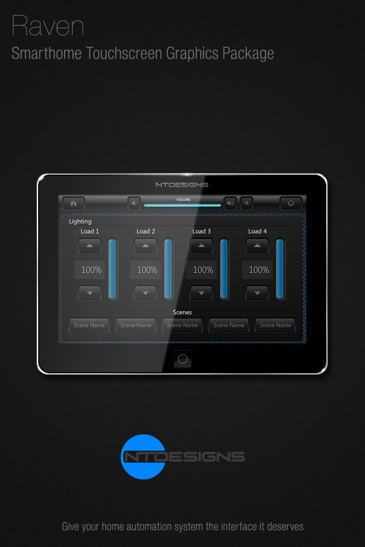 Home Theater Smarthome Home Automation Touchscreen Remote Control Graphics  By Ntdesigns.