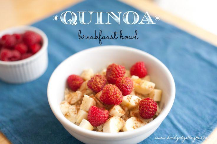 Quinoa breakfast bowl recipe, #vegan #glutenfree // www ...