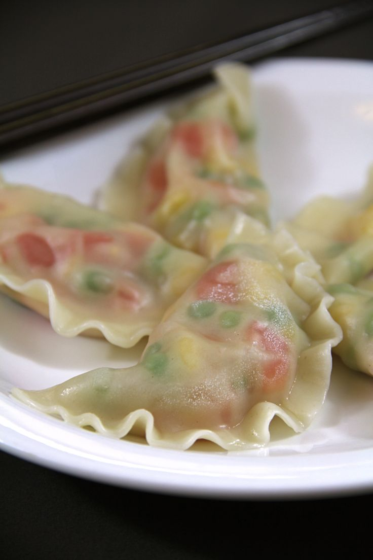 vegetable dumplings - modify to include shrimp or other filling combo ...