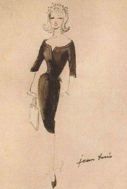 Costume design sketch by Jean Louis for Marilyn Monroe in 'The Misfits', 1960.
