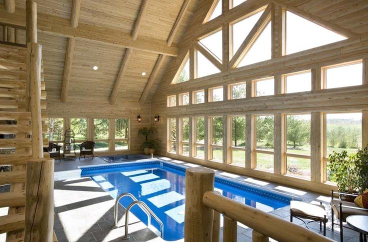 Log home with indoor swimming pool indoor swimming pools - Log cabins with indoor swimming pools ...