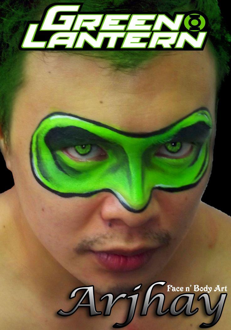 Green lantern mask face paint - photo#15