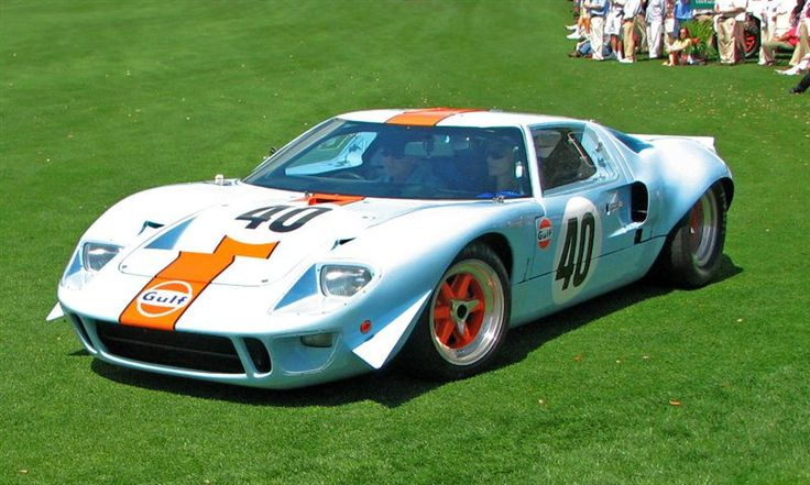 The Ford GT 40. Quite possibly one of the best cars ever made.