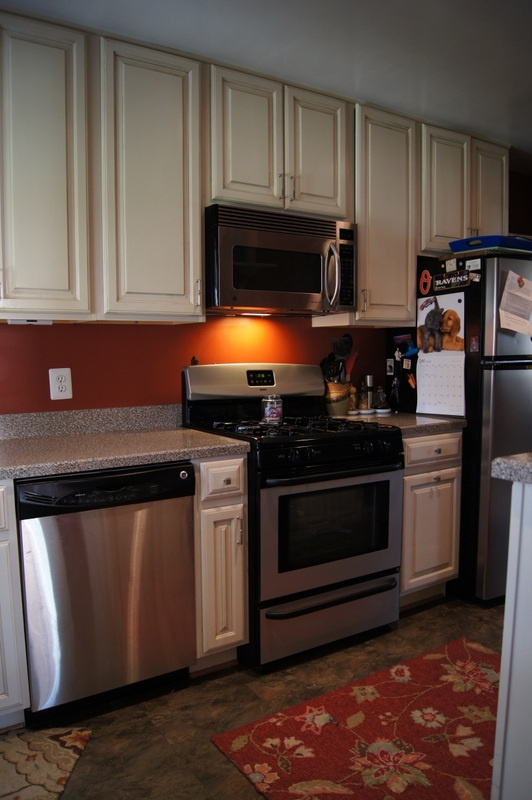Kitchen w 42 inch cabinets 6423 pinehurst rd pinterest for Kitchen cabinets 42 uppers