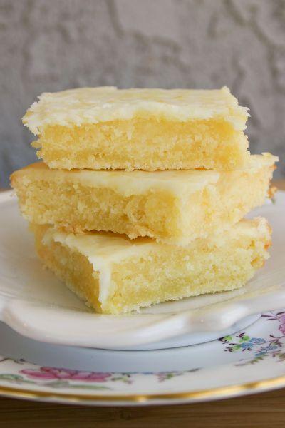 Lemon Bars, but the consistency of brownies