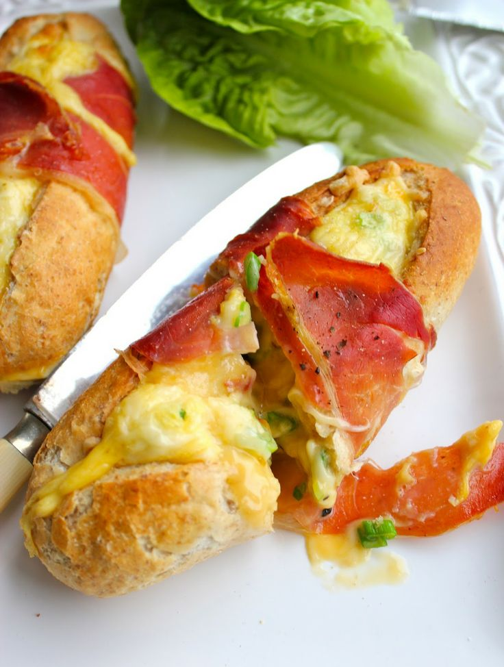 Warm: baked brunch baguette