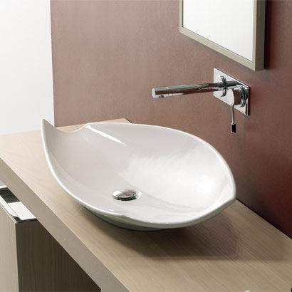 Scarabeo by Nameeks Kong 70 Above Counter Bathroom Sink in White ...