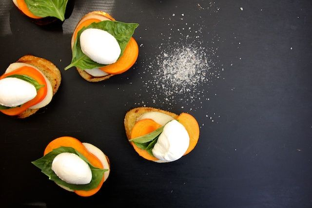 persimmon pear toasts. joy the baker | appetizer. | Pinterest