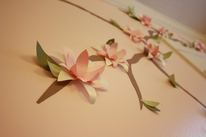 DIY flowers on wall
