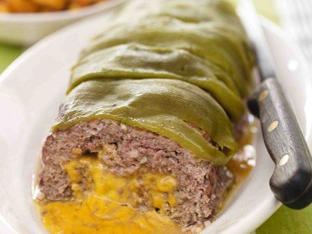 Green Chile-Cheese Meatloaf with Butternut Squash | Recipe