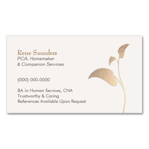 Caregiver and Companion Services Business Card: pinterest.com/pin/394346511094750484