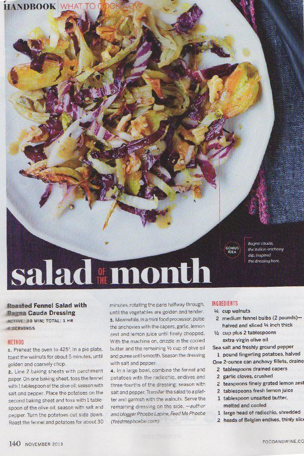 fennel salad bagna cauda dressing | Delicious recipes | Pinterest