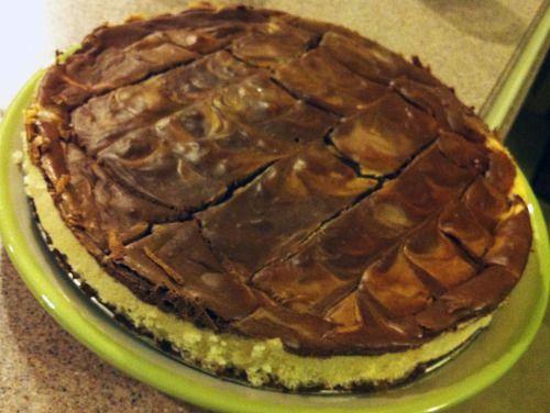 Peanut Butter Chocolate Swirl Cheesecake | Creamy Brown Happiness | P ...