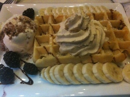 ... breakfast worth waking up for. Banana Tiramisu with Buttermilk Waffle