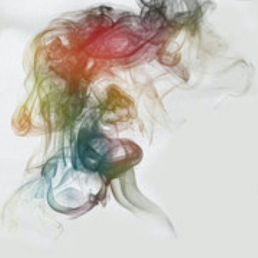 Rainbow smoke tattoo idea from panic at the disco album cover
