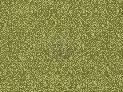 Vintage behang patroon in het groen