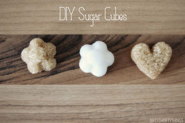 DIY Sugar Cubes: granulated white and/or brown sugar, water, bowl ...